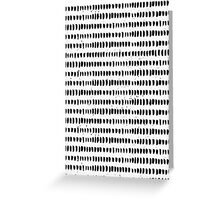 Black & White Hand Drawn Abstract Design Greeting Card
