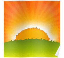 Polygon Sunrise Poster