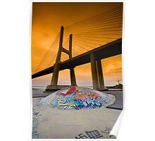 Vasco da Gama Bridge, Lisbon, Portugal Poster