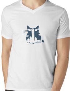 Flipping Off Cats Mens V-Neck T-Shirt