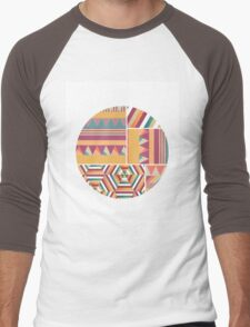 Circular Graphic Print Men's Baseball ¾ T-Shirt