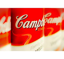 Warhol-Inspired Soup Cans - Pop Art Photographic Print