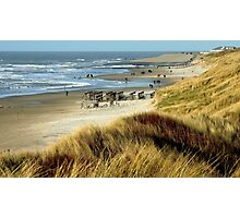 VIEW AT THE NORTHSEA BEACH NEAR SCHOORL Photographic Print