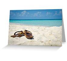 Caribbean Beach Flip Flops Greeting Card