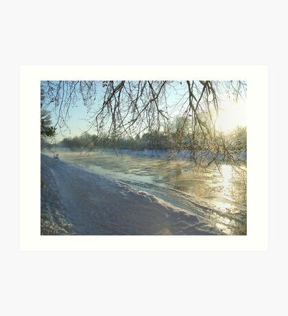 icy tweed Art Print