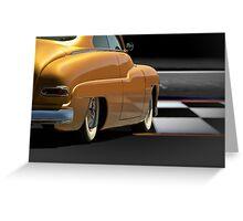 1950 Mercury Custom Sedan Greeting Card