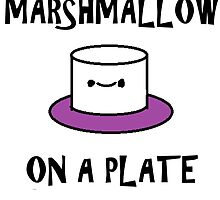 Marshmallow On a Plate by cake23
