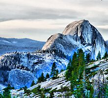 Half Dome from the high country. by Robert Woods
