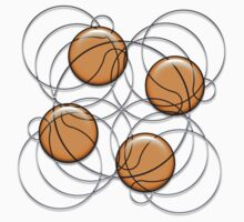 4 Basketballs by Waves