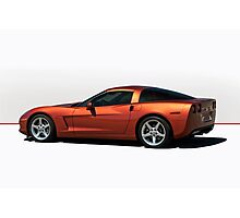 2005 Chevrolet Corvette 'Red Line' Coupe Photographic Print