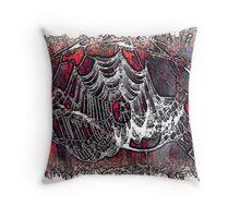 Creepy Web Throw Pillow