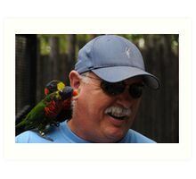 Man Beseiged By Birds Art Print