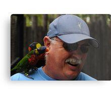 Man Beseiged By Birds Metal Print