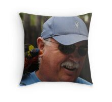 Man Beseiged By Birds Throw Pillow