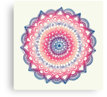 Ocean Sunset Mandala Canvas Print