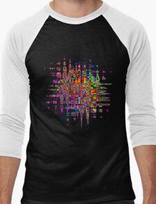 Abstract colorful tee Men's Baseball ¾ T-Shirt