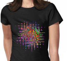 Abstract colorful tee Womens Fitted T-Shirt