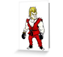 Paul Phoenix Tekken Greeting Card