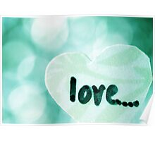 Love green Poster