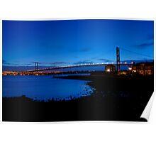 The Forth Road Bridge, North Queensferry, Scotland Poster