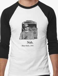 Rosa Parks Deal With It nah Men's Baseball ¾ T-Shirt