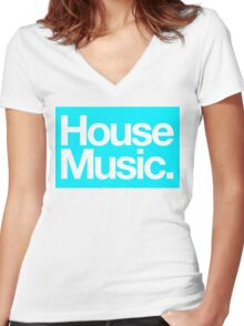 House Music Women's Fitted V-Neck T-Shirt