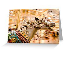 Carousel Horsee Greeting Card