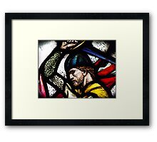 Stained Wallace Framed Print