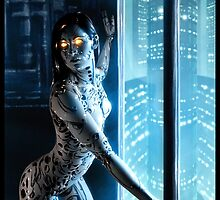 Cyberpunk Painting 046 by Ian Sokoliwski