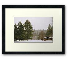 Green Mountain Winter Framed Print