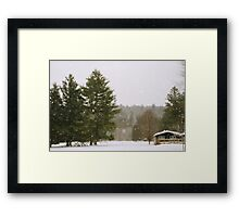 Green Mountain Winter Framed Print