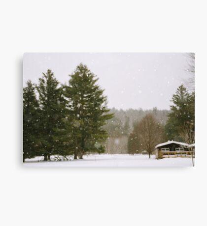 Green Mountain Winter Canvas Print