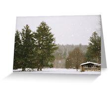 Green Mountain Winter Greeting Card