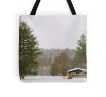 Green Mountain Winter Tote Bag