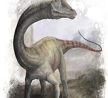 Apatosaurus by Jeff Powers Illustration