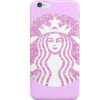 Starbucks Mermaid Pink Glitter Logo iPhone Case/Skin