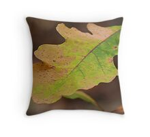 Multi Colored Oak Leaf Throw Pillow