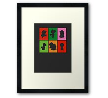 Mario and friends Framed Print
