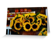 Farm Stand in Autumn Greeting Card