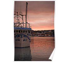 Harbourside Sunset Poster
