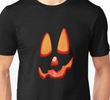 Orange Halloween Pumpkin Face Unisex T-Shirt