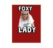 Garth Algar Wayne's World Foxy Lady Art Print