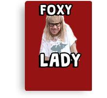 Garth Algar Wayne's World Foxy Lady Canvas Print