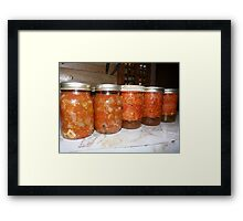 Quarts of Stewed Tomatoes Framed Print