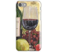 Red Wine and Pear iPhone Case/Skin