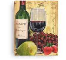 Red Wine and Pear Canvas Print