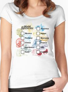 Drink Around the World - EPCOT Passport Women's Fitted Scoop T-Shirt