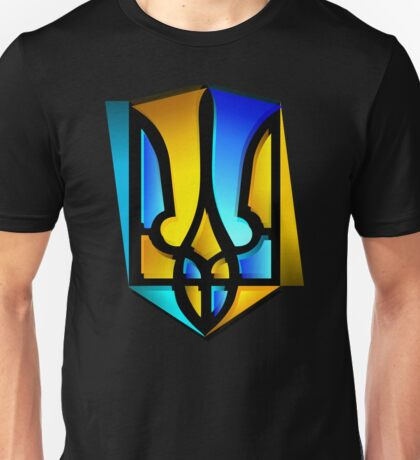 Blue and Yellow Tryzub Unisex T-Shirt