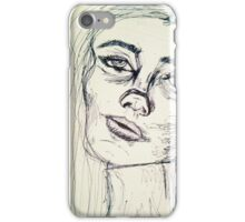 Contour Line Drawing iPhone Case/Skin