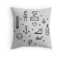 Let's pixelate Throw Pillow